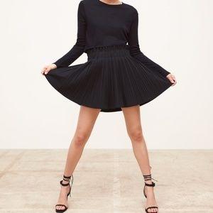 ZARA | Black Pleated Mini Skirt Elastic Large